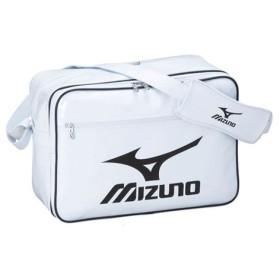 エナメルバッグ ホワイト×ブラック 【MIZUNO|ミズノ】サッカーフットサルバック16da-91070