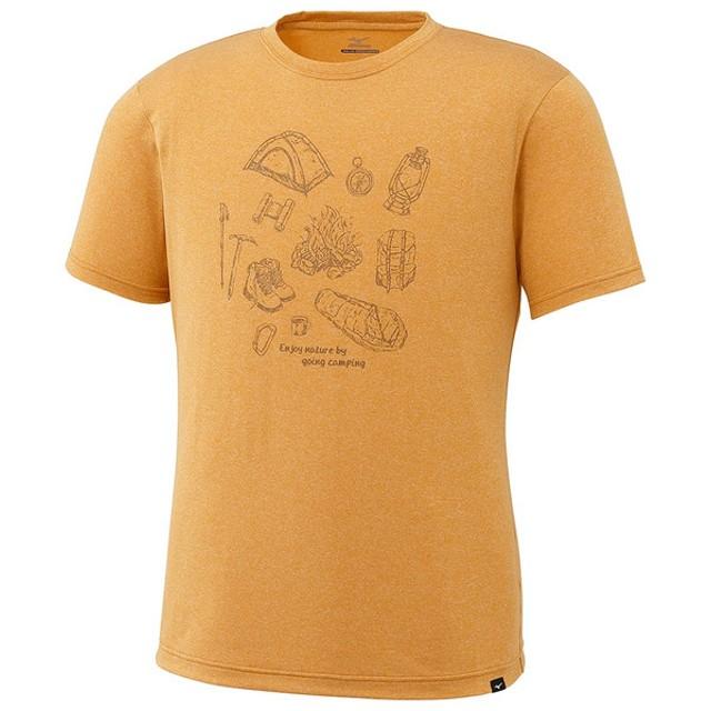 大特価!MIZUNO(ミズノ)ヘザーライト半袖プリントTシャツ アウトドア A2JA702243