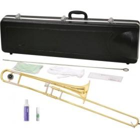 MAXTONE(マックストーン) トロンボーン TRB-30 新品 細管 B♭ テナートロンボーン 8インチベル 本体 初心者 スライドオイル 付き 管楽器 【 TRB30 セット B】