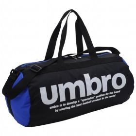 ベーシックドラム ブラック×ブルー 【UMBRO|アンブロ】サッカーフットサルバッグujs1642-bkbu