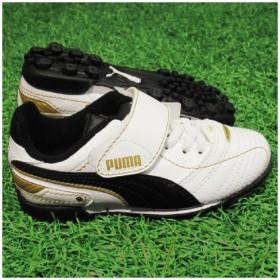 エシート フィナーレ TT V JR ホワイト×ブラック×チームゴールド 【PUMA プーマ】ジュニアトレーニングシューズ102019-02