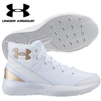 アンダーアーマー グレードスクール Xレベル ニンジャ 1296005-106 ジュニア バスケットボールシューズ ミニバス キッズ ユース ホワイト 白