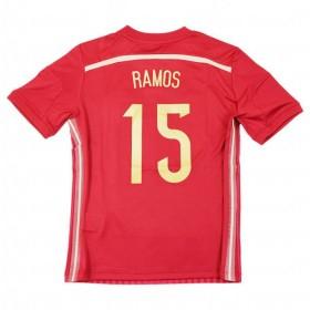 ジュニア スペイン代表 2014 ホーム 半袖レプリカユニフォーム 15.セルヒオ・ラモス 【adidas|アディダス】ナショナルチームレプリカウェア