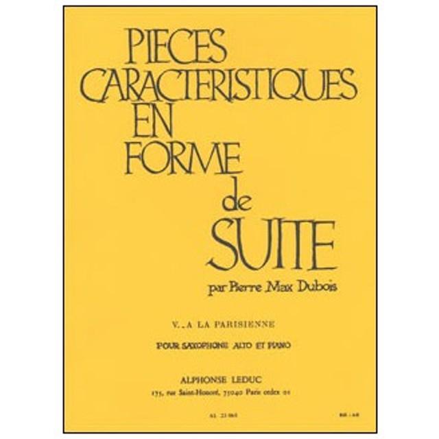 楽譜 デュボア/性格的小品集 第5番「パリジェンヌ風に」(AL23065/アルトサクソフォンとピアノ/輸入楽譜(T))