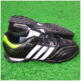 11クエストラ TRX TF J ブラック×ランニングホワイト 【adidas|アディダス】サッカージュニアトレーニングシューズv23711