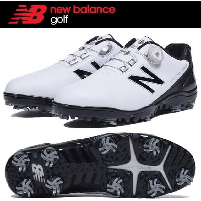 ニューバランス MG1001 WB ホワイト×ブラック NEWBALANCE GOLF ゴルフシューズ