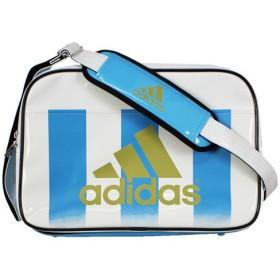 エナメルショルダーバッグ L ホワイト×ライトアクア 【adidas|アディダス】サッカーフットサルバックz7679-z52759