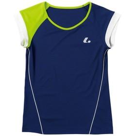 ルーセント テニス ユニホーム ゲームシャツ レディース ゲームシャツ 襟なし ネイビー lucent XLH-2286
