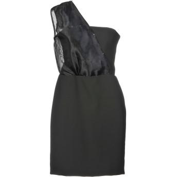 《セール開催中》CHRISTINE MATHIEU レディース ミニワンピース&ドレス ブラック 42 ポリエステル 88% / ポリウレタン 12% / ナイロン