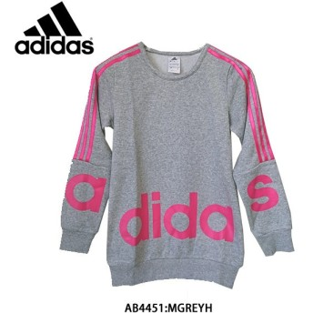 アディダス adidas ジュニア ガールズ GIRLS JEWEL LIN スウェット 裏起毛 AAV28-AB4451