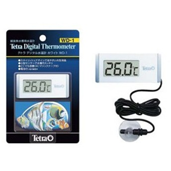 熱帯魚 水温計 テトラ デジタル水温計ホワイト WD−1 スタイリッシュなデジタル水温計 アクアリウム