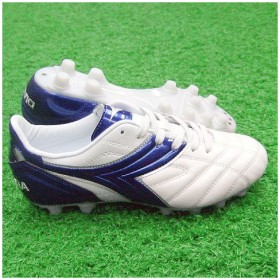 ティーロ MD PU JR ホワイト×ブルー 【diadora ディアドラ】サッカージュニアスパイク24101j-9065