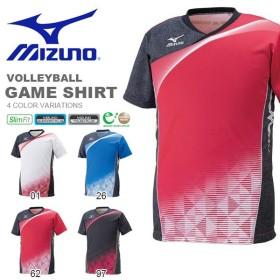 半袖 Tシャツ ミズノ MIZUNO ゲームシャツ バレーボール スポーツウェア クラブ 部活 試合 合宿 ユニフォーム  得割20