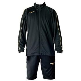 ミズノ サッカー トレーニングウェア上下セット ジュニア ウォームアップシャツ&ハーフパンツ 上下セット ブラック MIZUNO P2MC7170-09-P2MD7171-09