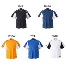 デサント メンズ 2ボタンベースボールシャツ(レギュラーシルエット) 野球ウェア 練習着 半袖 DB-104B
