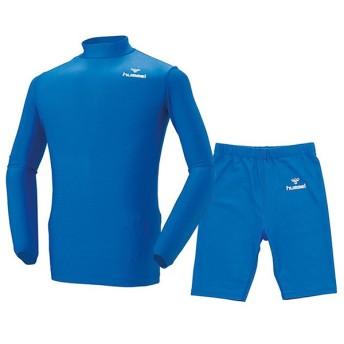 ヒュンメル サッカー インナーウェア 上下セット フィットインナーシャツ&パンツ上下セット ロイヤルブルー hummel HAP5114-63-HAP6010-63