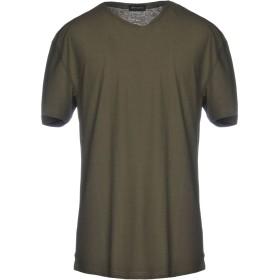 《セール開催中》ROBERTO COLLINA メンズ T シャツ ダークグリーン 46 コットン 100%