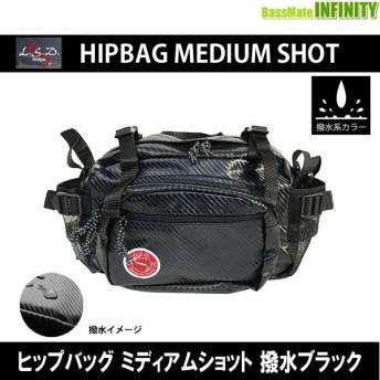 ●LSDデザイン ヒップバッグミディアムショット 撥水ブラック 【まとめ送料割】