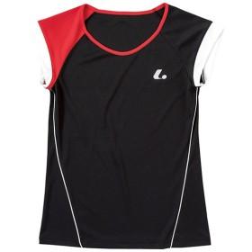 ルーセント テニス ユニホーム ゲームシャツ レディース ゲームシャツ 襟なし ブラック lucent XLH-2289