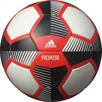 プレデター グライダー ホワイト×ソーラーレッド 【adidas アディダス】サッカーボール4号球af4637rbk