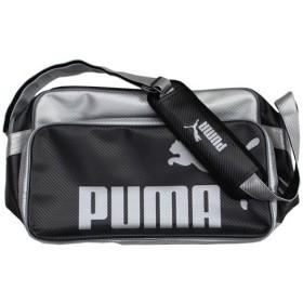 エナメルショルダーバッグM ブラック×シルバー 【PUMA|プーマ】サッカーフットサルバック869136-01