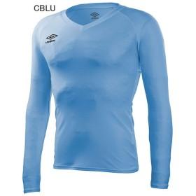 アンブロ サッカー コンディショニングシャツ L/S パワーインナー Vネックシャツ CLブルー UMBRO UAS9701L-CLBU