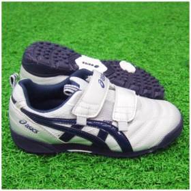 トレッカーJr 2 シルバー×ネイビー 【asics アシックス】サッカージュニアトレーニングシューズtst6149350