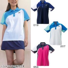 ヨネックス レディース ゲームシャツ テニス バドミントンウェア 半袖 ポロシャツ ショートスリーブシャツ 20434