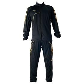 ミズノ サッカー トレーニングウェア上下セット ウォームアップシャツ&パンツ 上下セット ブラック MIZUNO P2MC7080-09-P2MD7080-09
