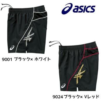 アシックス asics ゲームパンツ(12cm) XW1814 バレーボールウェア ストライプ ロゴ メンズ レディース
