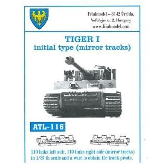 1/35スケール 金属製可動履帯シリーズ タイガーI極初期型(ミラートラック)(再販)[フリウルモデル]《在庫切れ》