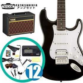 Squier by Fender エレキギター入門セット Bullet Stratocaster with Tremolo HSS Black (VOXアンプ&小物セット)