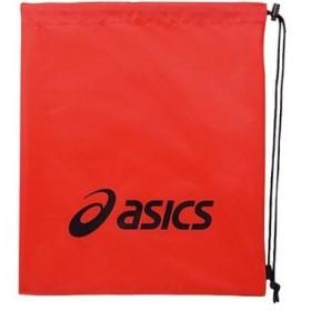 【クーポン発行中】 アシックス スポーツ バッグ ライトバッグM EBG441 2390 レッド×ブラック