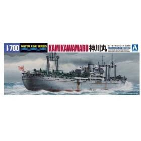1/700 ウォーターライン No.560 特設水上機母艦 神川丸 プラモデル[アオシマ]《取り寄せ※暫定》