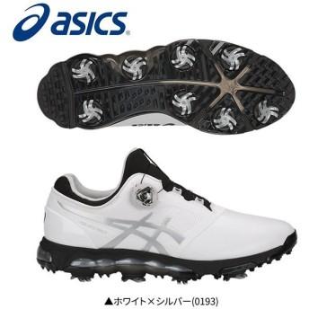 「幅3E」 アシックス ゴルフ ゲルエース プロ X ボア TGN922 ゴルフシューズ ホワイト×シルバー(0193)