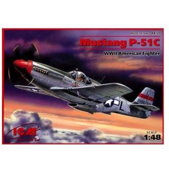 1/48 P-51C ムスタング プラモデル(再販)[ICM]《取り寄せ※暫定》