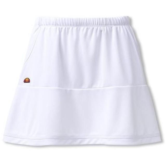 f14a81cfa76e8a エレッセ Ellesse レディース テニス ウェア スカート Team Skirt ETS2810L W ホワイト 【2018SS】