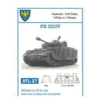 1/35スケール 金属製可動履帯シリーズ III号/IV号戦車(1943/1945)(再販)[フリウルモデル]《在庫切れ》