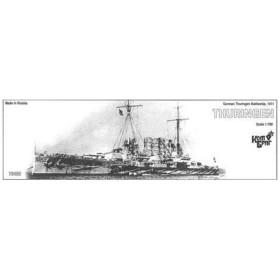 1/700 独弩級戦艦チューリンゲン Eパーツ付・1911 レジンキット[コンブリック]《在庫切れ》