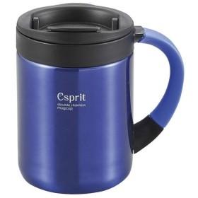 キャプテンスタッグ Csprit ダブルステンレスマグカップ280(ブルー) M-5364