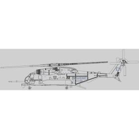 """アヴィエーションファイターズ 1/144 Vol.011 Sikorsky CH-53E SUPER STALLION """"BLACK KNIGHTS"""" EH22[エスワンフォー]《在庫切れ》"""