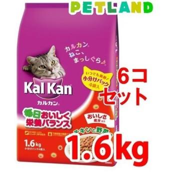 カルカン ドライ チキンと野菜味 ( 1.6kg6袋 )/ カルカン(kal kan) ( キャットフード )