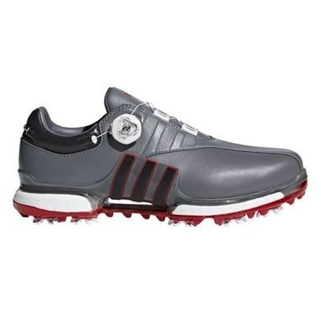 アディダス ゴルフ adidas golf メンズ ゴルフ シューズ ソフトスパイク ツアー360 EQT ボア WI975 F33731 グレーフォー/ユーティリティーブラック