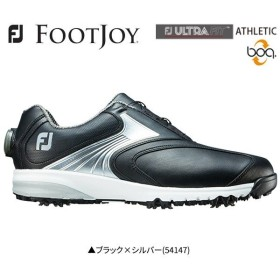 「幅広設計」 フットジョイ ゴルフ ウルトラフィット アスレチック ボア ゴルフシューズ ブラック×シルバー(54147) FOOTJOY ULTRA FIT ATHLETIC BOA