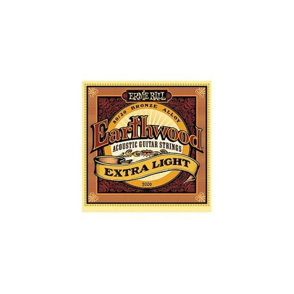 Ernie Ball 2004 Earthwood 80//20 Bronze Light Acoustic Guitar Strings 11-52 2 Set