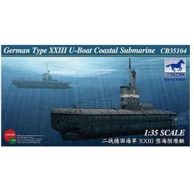 1/35 独UボートXXIII型(TYPE23)沿岸用潜水艦 プラモデル(再販)[BRONCO]《在庫切れ》