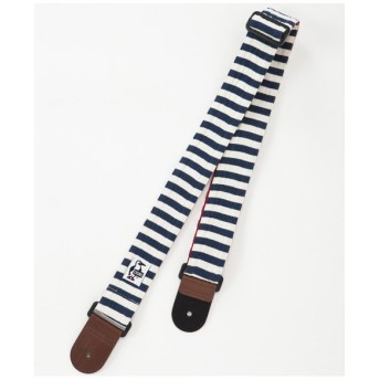 CHUMS チャムス / GUITAR STRAP SWEAT NYLON NAVY NATURAL BORDER/TOMATO ギターストラップ