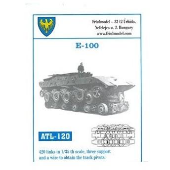 1/35スケール 金属製可動履帯シリーズ E-100/E-100突撃砲用(再販)[フリウルモデル]《在庫切れ》