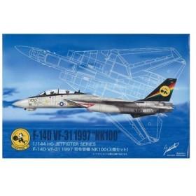 1/144 HGジェットファイターシリーズ No.12 F-14D VF31 NK100 プラモデル[マイクロエース]《在庫切れ》