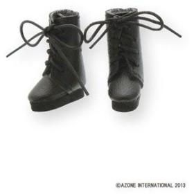 ピコニーモウェア 1/12 レースアップショートブーツ ブラック(ドール用小物)[アゾン]《取り寄せ※暫定》